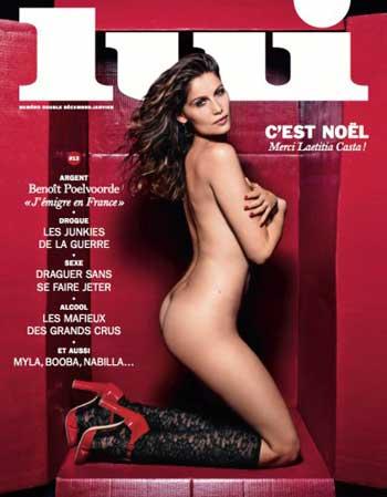 36-річна відома французька модель Летиція Каста знялася оголеною