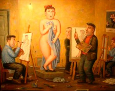 Черкащан навчать малювати оголену натуру