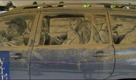 Малюнки на машинах