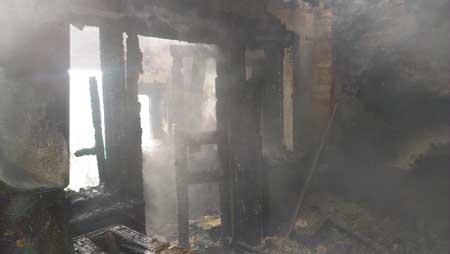 У Драбівському районі на пожежі жінка отримала опіки