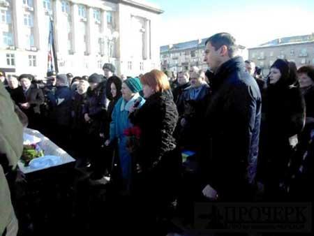На Соборній площі Черкас провели в останню путь героя АТО
