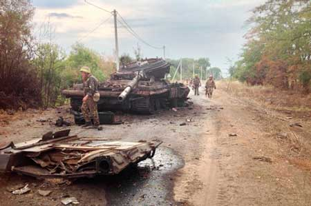 підбитий танк в АТО