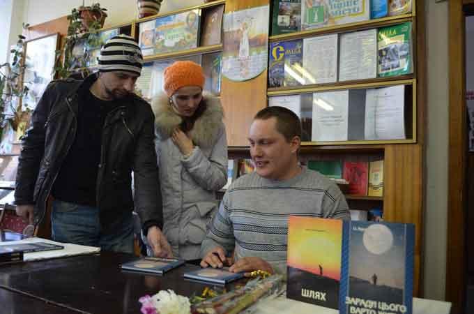 Письменник зі Сміли Іван Герасименко презентував читачам свої книги