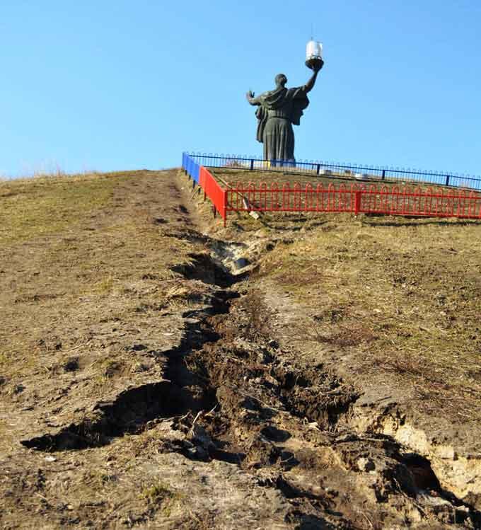 Пагорб Слави в Черкасах - у аварійному стані