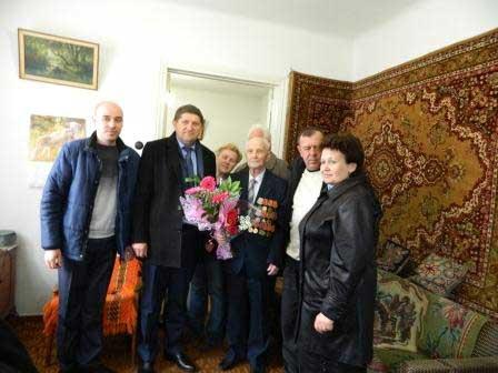 На Шполянщині з Днем народження привітали учасника бойових дій Великої Вітчизняної війни