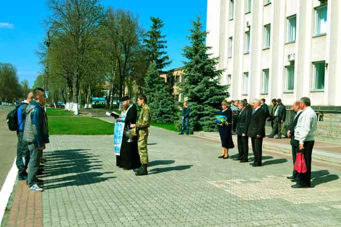 Відбулась чергова відправка мобілізованих з Драбівщини