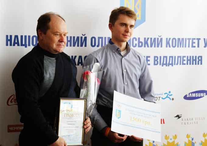 Кращим спортсменом квітня на Черкащині став Віталій Новаковський