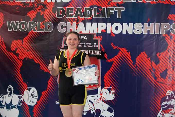 Студентка ЧНУ здобула перемогу на чемпіонаті світу з пауерліфтингу