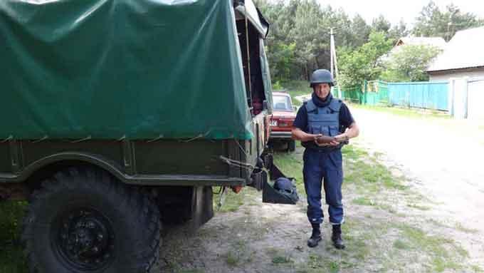 В Черкаському районі знищено мінометну міну часів війни