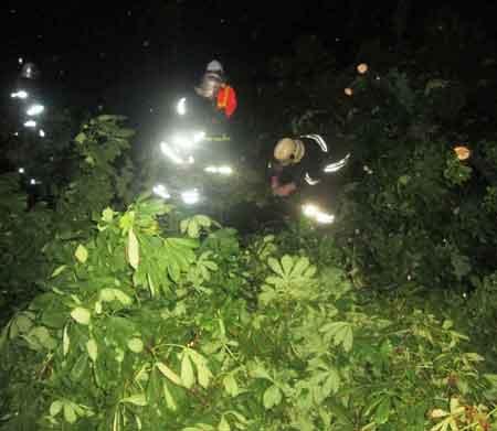 У Черкасах рятувальники ліквідували наслідки негоди (відео)