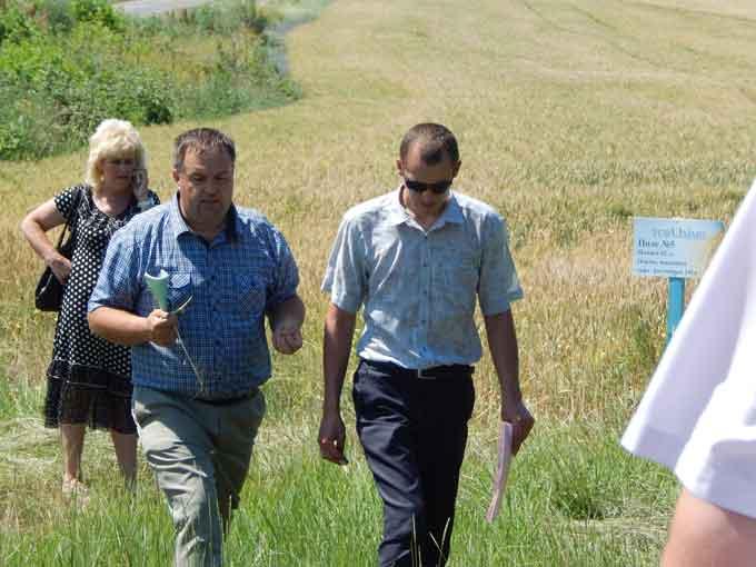 На Чорнобаївщині проведено огляд полів озимих і ярих культур, вирощуваних в сільгосппідприємствах