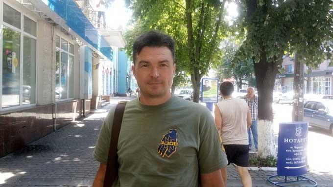 """Білотур — боєць з Черкащини, командир взводу управління гаубичної батареї полку """"Азов"""""""
