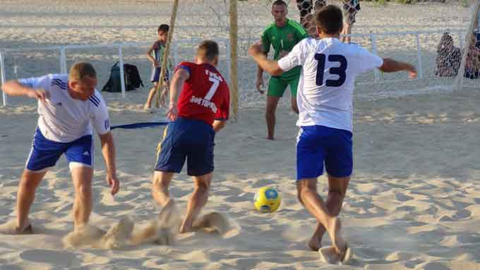 Завершився восьмий чемпіонат області з пляжного футболу