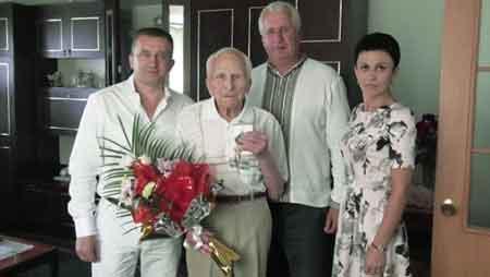 На Христинівщині привітали ветерана-ювіляра