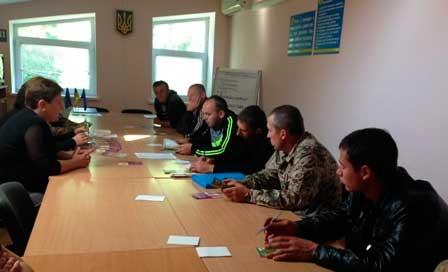 У Монастирищенському центрі зайнятості зустрілися з учасниками АТО