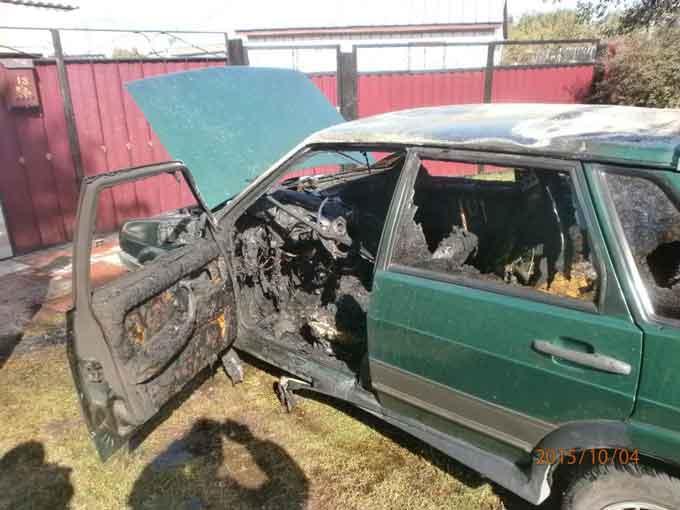На Черкащині сталися три пожежі автомобілів