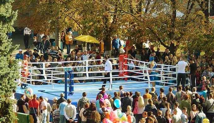 Новий боксерський ринг презентували в Умані