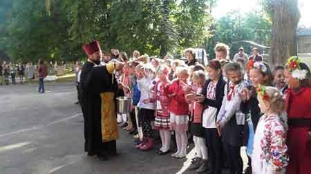 Христинівських дітей приймали у козачата