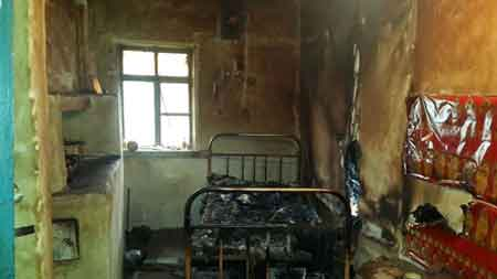 В Корсунь-Шевченківському районі під час пожежі загинув чоловік