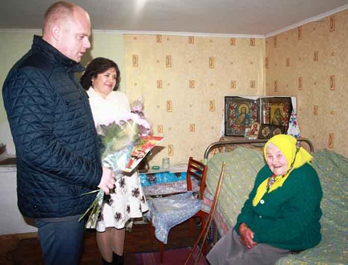Ювілярку з села Трушівці привітали з 100-річчям