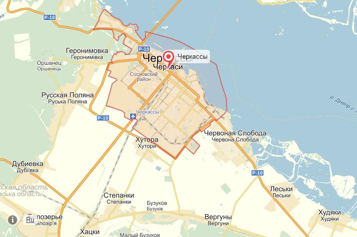 Яндекс шукає неточності на картах Черкас, Сміли та Умані