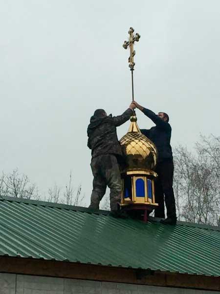Освячено хрест і купол на каплицю на честь Великомучениці Євгенії у місті Сміла