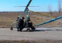 Черкаський пенсіонер склав на дозвіллі… саморобний вертоліт (відео)
