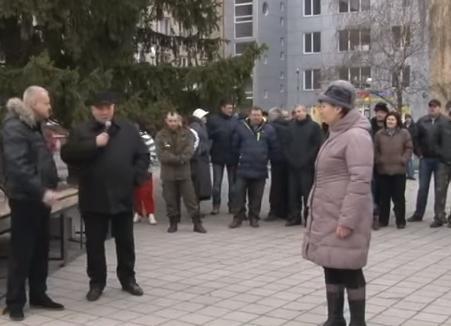 У Смілі відсторонений міський голова мітингував на підтримку себе (відео)