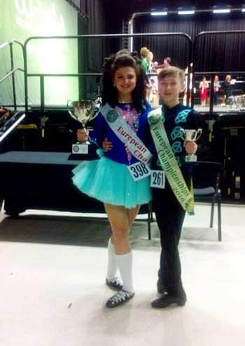 Учень Черкаського колегіуму «Берегиня» здобув призове місце на чемпіонаті Європи та Світу з ірландських танців