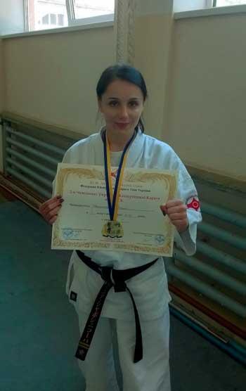 Чемпіонка України з кіокушинкай-карате живе у Корсуні-Шевченківському