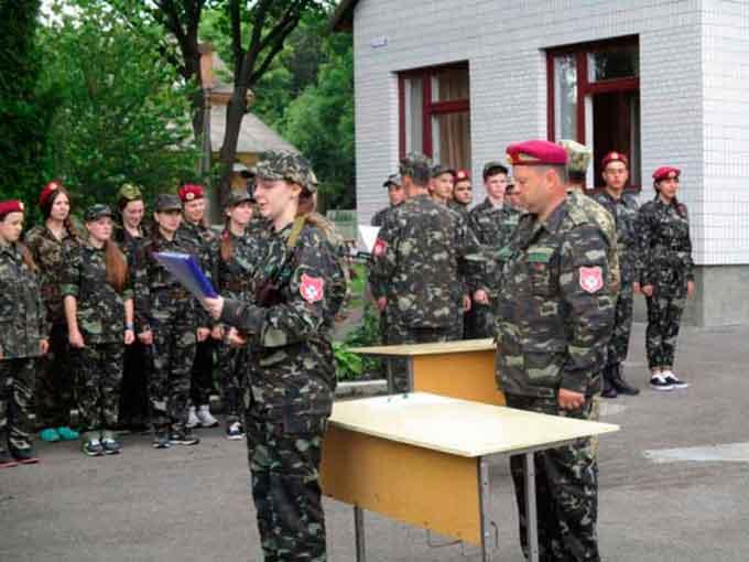 На Маньківщині відкрився перший військово-патріотичний табір