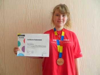 Учениця школи №3 Анна Іноземець здобула «бронзу» у фіналі міжнародного конкурсу «Інфоматрікс – 2016»