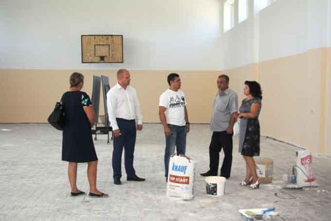 Спортивний зал Тіньківської загальноосвітньої школи І-ІІІ ступенів дочекався ремонту