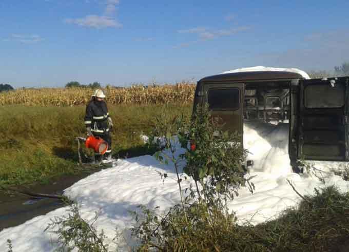 Біля села Свічківка горіло авто (відео)