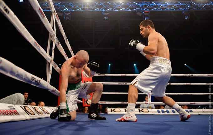Мішико Беселія нокаутував ірландця в першому раунді
