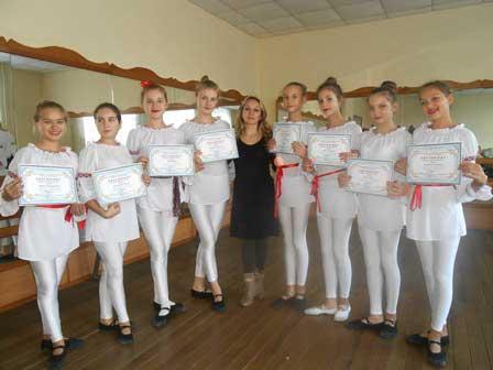 Учасники хореографічного колективу «Арабеск» Корсунь-Шевченківської школи мистецтв