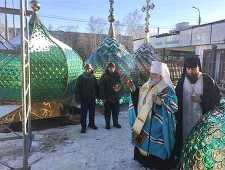 У Черкасах освятили купола і хрести нового храму Московського патріархату