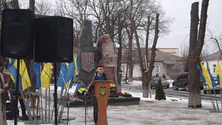 У Корсуні-Шевченківському відкрили пам'ятний знак Героям Небесної Сотні