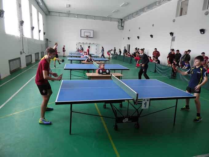 В Уманському районі відбулися змагання з настільного тенісу серед школярів