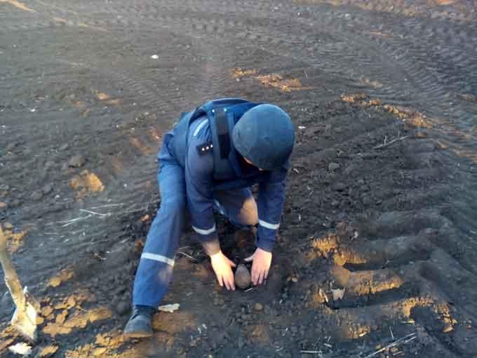 У Кам'янському районі сапери ДСНС знищили мінометну міну