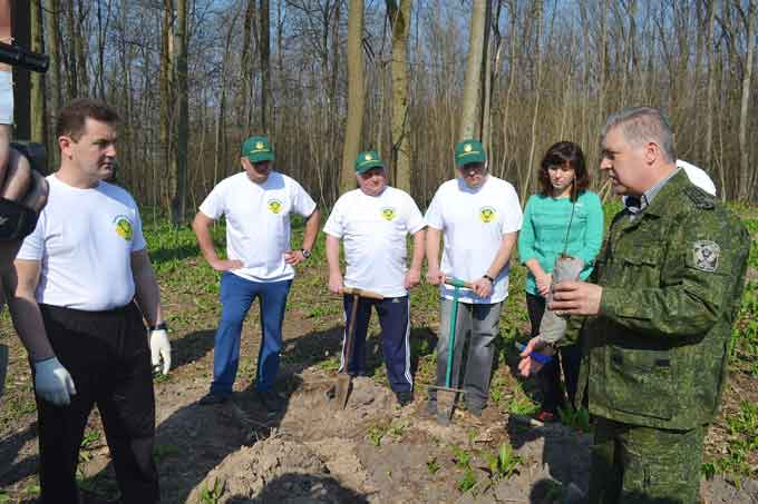 Фоторепортаж: як депутати ліс садили