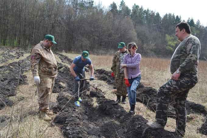 Фоторепортаж. у Холодному Яру громадські активісти садили ліс
