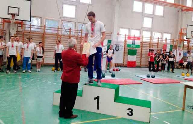 Студент УДПУ Валентин Хмільовий – вже триразовий чемпіон світу з гирьового спорту