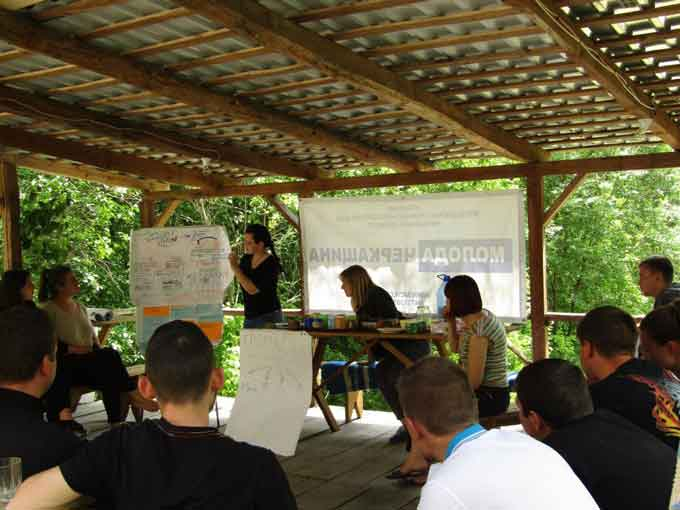 У Холодному Яру молоді активісти розбиралися як влаштована держава