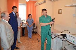 В Черкаській ЦРЛ відбулась презентація нової відео-гастроскопічної стійки «Pentax»