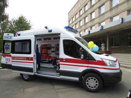 У Шполянській центральній районній лікарні з'явився сучасний реанімобіль