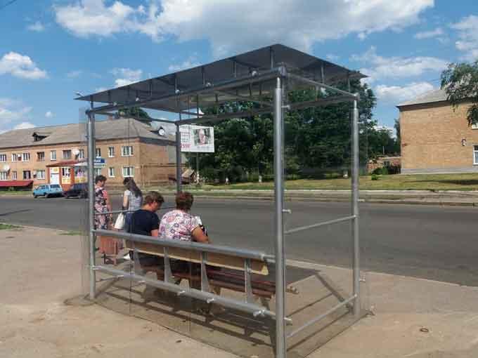 Фотофакт: у Смілі обладнали автобусну зупинку