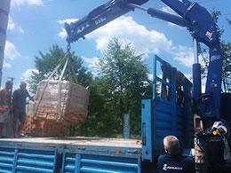 Нардеп Голуб передав 3000 цеглин для територіального центру