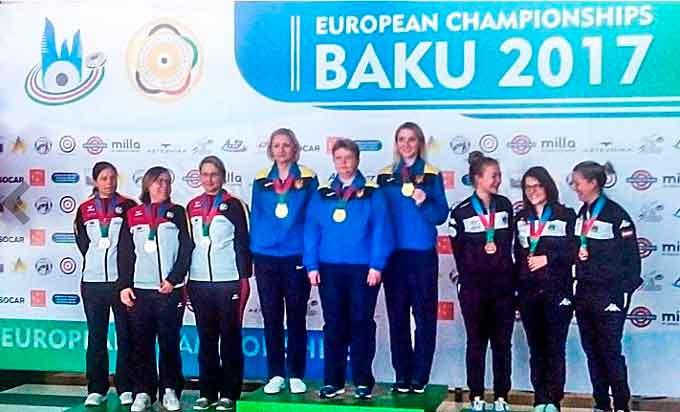 Дарія Шаріпова здобула золото та срібло на Чемпіонаті Європи