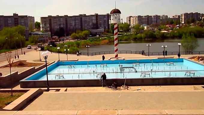В Умані обікрали тільки збудований парк Шевченка (відео)